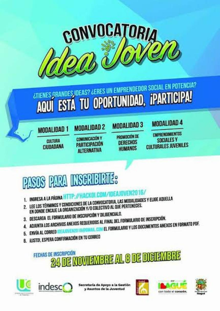 Concurso convocatoria joven para iniciativas juveniles for Convocatoria concurso docente 2016