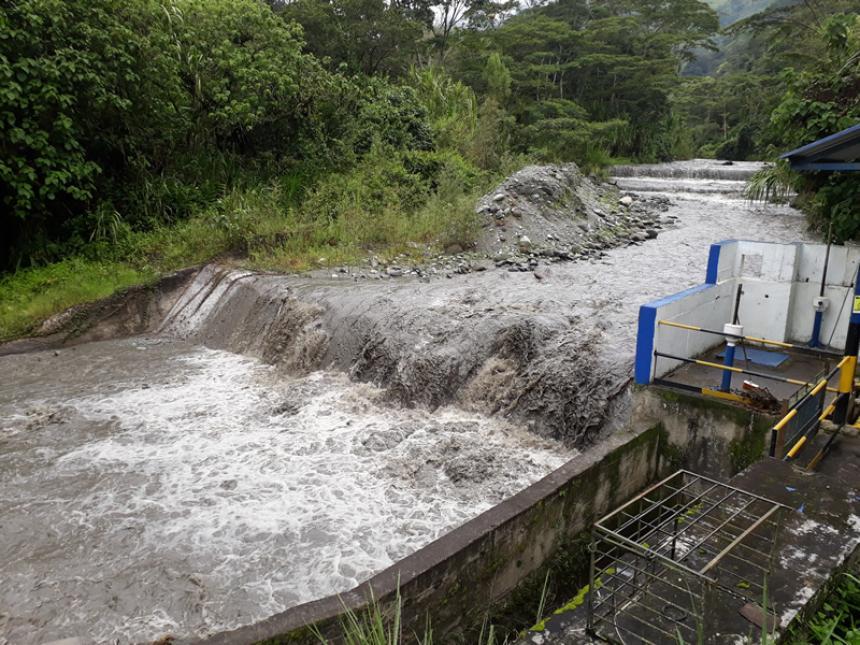 Río Combeima presentó la creciente de caudal más alta de los últimos 21  meses